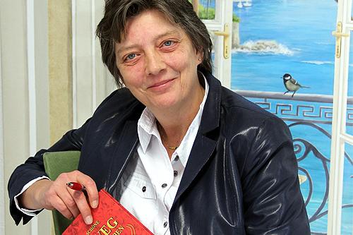 Birgit Schöne, Buchvorstellung Der Weg ns große Leben, Buchmesse Frankfurt