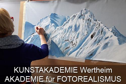 Schaltfläche Atelier Leoni, Kunstakademie Wertheim, Akademie für Fotorealismus