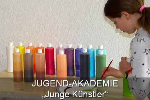 Schaltfläche Jugend-Akademie Junge Künstler Atelier Leoni, Kunstakademie Wertheim, Akademie für Fotorealismus